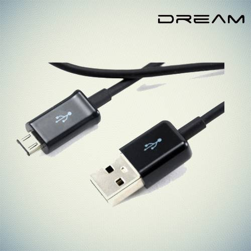 Универсальный кабель для зарядки, передачи данных и синхронизации - Micro USB черный