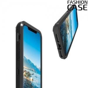 Гибридный двухслойный чехол для iPhone Xs / X - Черный