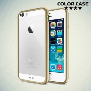 Гибридный прозрачный чехол для iPhone 6S / 6 - Золотой
