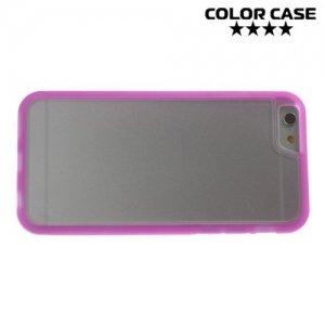 Гибридный прозрачный чехол для iPhone 6S / 6 - Розовый