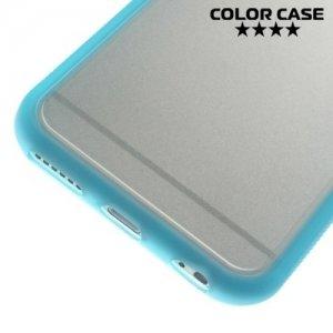Гибридный прозрачный чехол для iPhone 6S / 6 - Синий