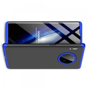 GKK 360 Пластиковый чехол с защитой дисплея для Huawei Mate 30 Pro Синий / Черный