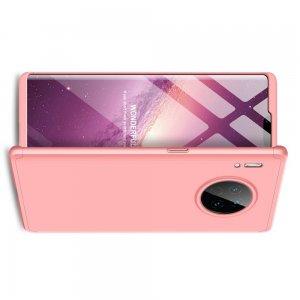 GKK 360 Пластиковый чехол с защитой дисплея для Huawei Mate 30 Pro Светло-Розовый