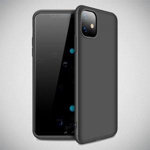 GKK 360 Пластиковый чехол с защитой дисплея для iPhone 11 Черный