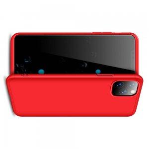 GKK 360 Пластиковый чехол с защитой дисплея для iPhone 11 Pro Max Красный