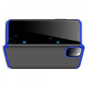 GKK 360 Пластиковый чехол с защитой дисплея для iPhone 11 Pro Max Синий / Черный