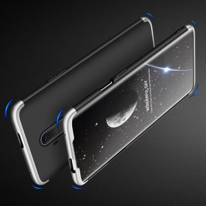 GKK 360 Пластиковый чехол с защитой дисплея для OnePlus 7T Pro Серебряный