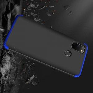 GKK 360 Пластиковый чехол с защитой дисплея для Samsung Galaxy M30s Синий / Черный