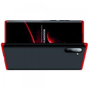 GKK 360 Пластиковый чехол с защитой дисплея для Samsung Galaxy Note 10 Красный / Черный