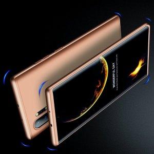 GKK 360 Пластиковый чехол с защитой дисплея для Samsung Galaxy Note 10 Plus / 10+ Золотой