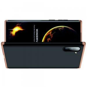 GKK 360 Пластиковый чехол с защитой дисплея для Samsung Galaxy Note 10 Золотой / Черный