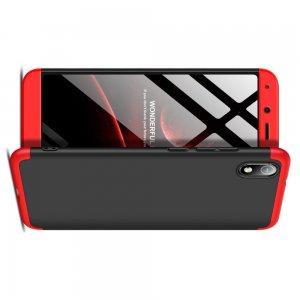 GKK 360 Пластиковый чехол с защитой дисплея для Xiaomi Redmi 7A Красный / Черный