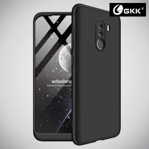 GKK 360 Пластиковый чехол с защитой дисплея для Xiaomi Redmi Note 8 Pro Черный