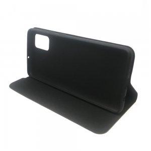 Горизонтальный чехол книжка для Samsung Galaxy A71 - Черный