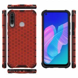 Honeycomb противоударный матовый чехол для Huawei P40 lite E - Красный