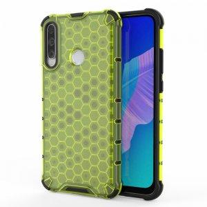 Honeycomb противоударный матовый чехол для Huawei P40 lite E - Зеленый