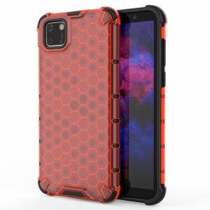 Honeycomb противоударный матовый чехол для Huawei Y5p / Honor 9S - Красный