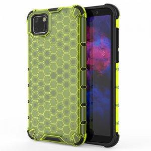 Honeycomb противоударный матовый чехол для Huawei Y5p / Honor 9S - Зеленый