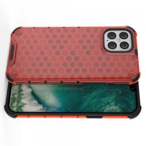 Honeycomb противоударный матовый чехол для iPhone 12 Pro Max 6.7 - Красный