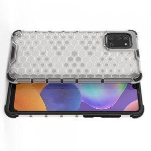 Honeycomb противоударный матовый чехол для Samsung Galaxy A31 - Белый