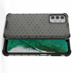 Honeycomb противоударный матовый чехол для Samsung Galaxy A32 - Черный