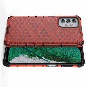 Honeycomb противоударный матовый чехол для Samsung Galaxy A32 - Красный