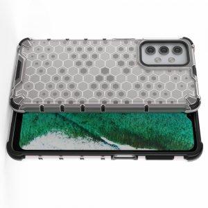 Honeycomb противоударный матовый чехол для Samsung Galaxy A32 - Серый