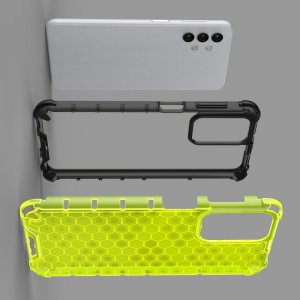 Honeycomb противоударный матовый чехол для Samsung Galaxy A32 - Зеленый