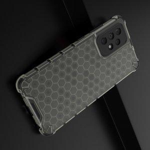 Honeycomb противоударный матовый чехол для Samsung Galaxy A52 - Черный