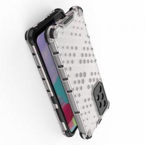 Honeycomb противоударный матовый чехол для Samsung Galaxy A52 - Серый