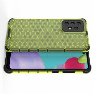 Honeycomb противоударный матовый чехол для Samsung Galaxy A52 - Зеленый