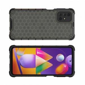 Honeycomb противоударный матовый чехол для Samsung Galaxy M31s - Черный