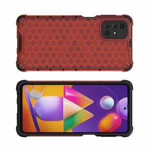 Honeycomb противоударный матовый чехол для Samsung Galaxy M31s - Красный