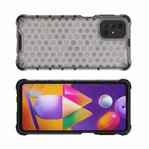 Honeycomb противоударный матовый чехол для Samsung Galaxy M31s - Серый
