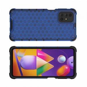 Honeycomb противоударный матовый чехол для Samsung Galaxy M31s - Синий