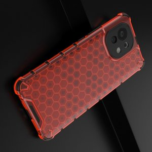 Honeycomb противоударный матовый чехол для Xiaomi Mi 11 - Красный