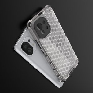 Honeycomb противоударный матовый чехол для Xiaomi Mi 11 - Серый