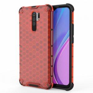 Honeycomb противоударный матовый чехол для Xiaomi Redmi 9 - Красный