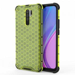 Honeycomb противоударный матовый чехол для Xiaomi Redmi 9 - Зеленый