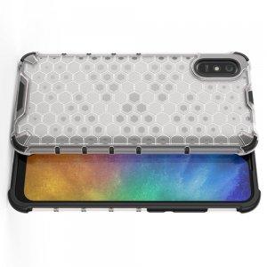 Honeycomb противоударный матовый чехол для Xiaomi Redmi 9A - Белый