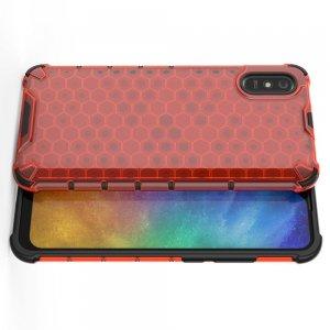 Honeycomb противоударный матовый чехол для Xiaomi Redmi 9A - Красный