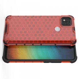 Honeycomb противоударный матовый чехол для Xiaomi Redmi 9C - Красный
