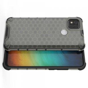 Honeycomb противоударный матовый чехол для Xiaomi Redmi 9C - Серый