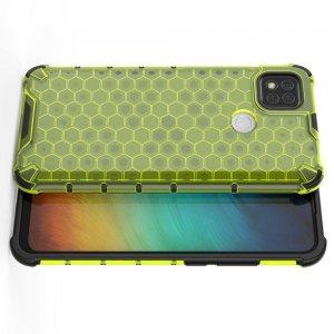 Honeycomb противоударный матовый чехол для Xiaomi Redmi 9C - Зеленый