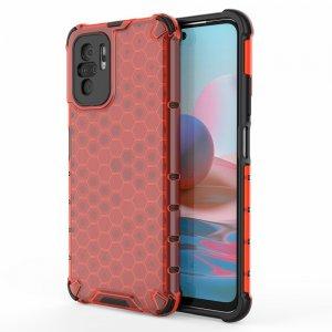 Honeycomb противоударный матовый чехол для Xiaomi Redmi Note 10 - Красный