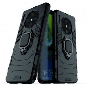 Hybrid Armor Ring Противоударный защитный двухслойный чехол с кольцом под палец подставкой держателем для OnePlus 7T Черный