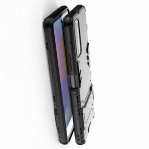 Hybrid Armor Ударопрочный чехол для Huawei Honor 10X Lite с подставкой - Черный