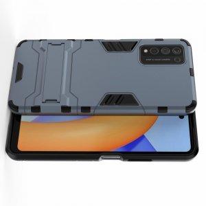 Hybrid Armor Ударопрочный чехол для Huawei Honor 10X Lite с подставкой - Синий