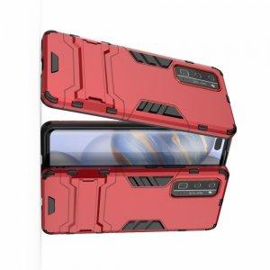 Hybrid Armor Ударопрочный чехол для Huawei Honor 30 Pro с подставкой - Красный