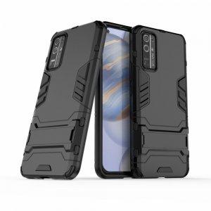 Hybrid Armor Ударопрочный чехол для Huawei Honor 30 с подставкой - Черный
